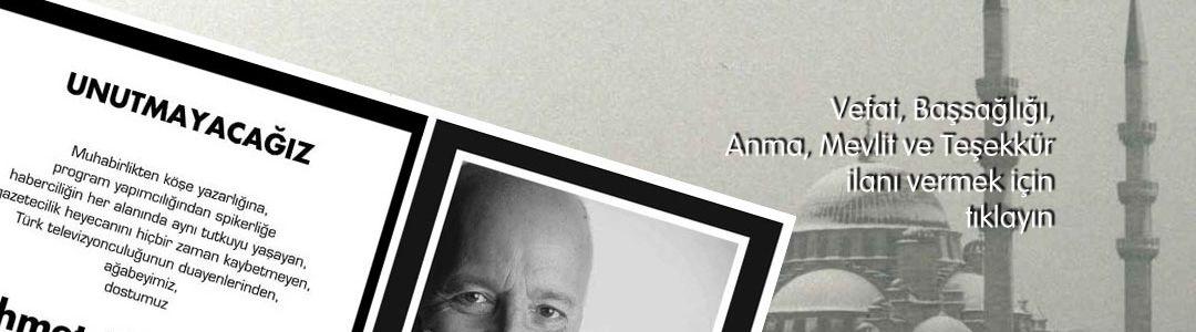 Vefat, Cenaze ilanı