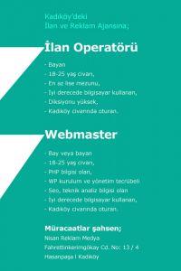 Operatör ve webmaster iş ilanı