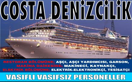 Costa Denizcilik Vasıfsız İş İlanları